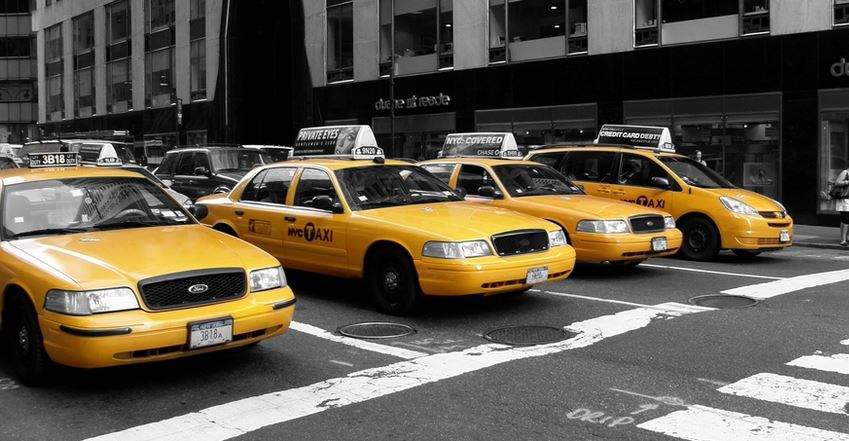 Culture populaire les taxis jaunes de new york lec - Rideau new york taxi jaune ...