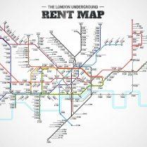 The London Underground rent map