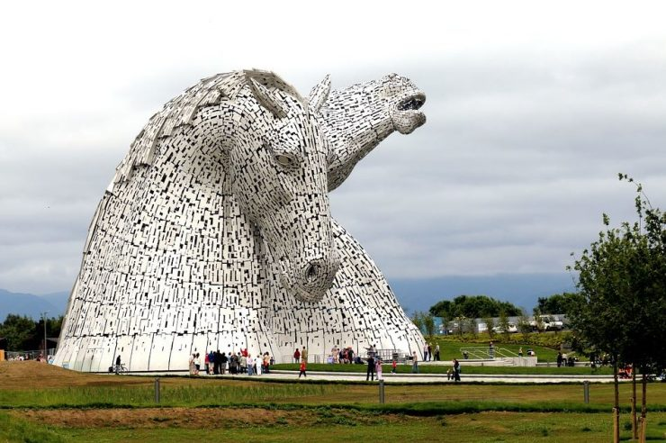 Séjour linguistique en Ecosse : l'impressionnante sculpture The Kelpies